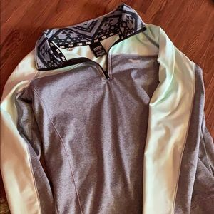 Pink Ultimate workout hoodie with thumb holes